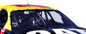 NASCAR race-car windshields are made out of Lexan, the same polycarbonate material used to make bulletproof glass.