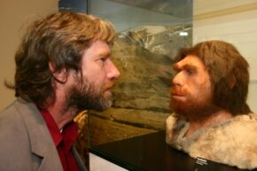 Mirror image? Not quite, but traces of Neanderthal DNA exist in the modern human gene pool.
