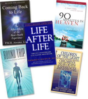 Books on NDEs include both first-person accounts and scientific studies.