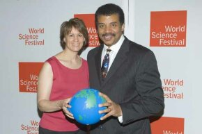 Neil deGrasse Tyson and wife Alice Young attend the World Science Festival opening gala at Lincoln Center in New York City.