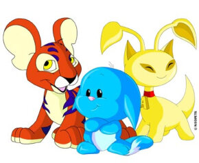 A few of the more than 50 different varieties of Neopets.