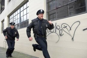 Running from the cops will usually get you slapped with the additional charge of resisting arrest. Even if you're innocent, it's best to submit to the handcuffs and challenge later.