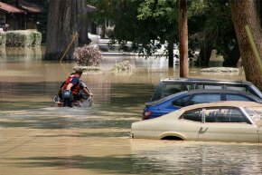 As little as 6 inches of rising water can sweep a person off his feet, while just 18 inches can carry a car away.
