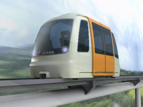 An artist's rendering of the Vectus PRT system.
