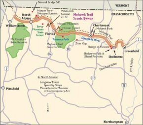 Follow this map to see the points of interest along Mohawk Trail.