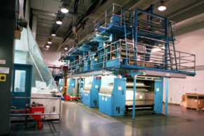 Modern presses are huge and noisy but expensive and essential to the success of a newspaper.