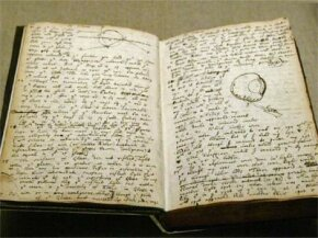 A notebook belonging to Isaac Newton describes an experiment he conducted on himself that involved placing a sharp instrument between his eye and the bone in order to induce the sensation of color.