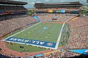 Fans fill Aloha Stadium during the second quarter of the 2009 NFL Pro Bowl in Honolulu, Hawaii.