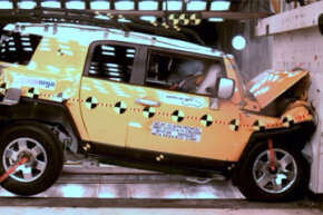 Image Gallery: Car Safety This handout photo provided by The National Highway Traffic Safety Administration, shows a crash test of a 2007 Toyota FJ Cruiser. See more car safety pictures.