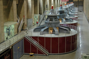 Tesla saw the benefits of using water to power generators like these at Hoover Dam -- even though it was unproven technology at the time.
