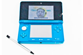The front-facing camera on the Nintendo 3DS can take images that you can use in applications and games.