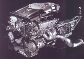 An all-aluminum, dual-overhead-cam, 3.5-liter V-6 powered the 2003 350Z.