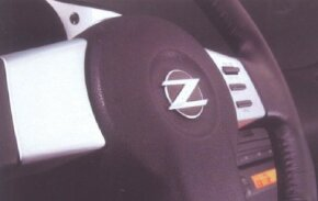 Steering-wheel spokes were among the many aluminum accents inside the 350Z.