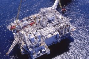 Aerial images of oil rigs enable personnel to perform safety checks from land.