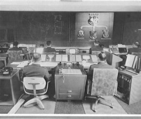 The NORAD command center in the late 1960s/early 1970s