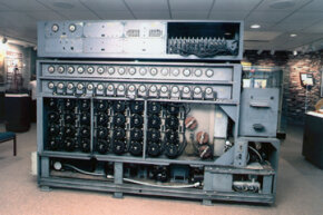 The U.S. Navy's Cryptanalytic Bombe was used to decode messages sent from Germany's Enigma cipher machine and led to Allied successes in World War II. It can be seen at the NSA's National Cryptologic Museum in Maryland, which is open to the public.