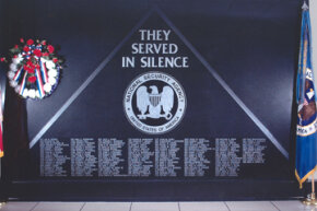 A memorial to the more than 170 NSA cryptologists who have died while serving their country. It is housed at NSA headquarters.
