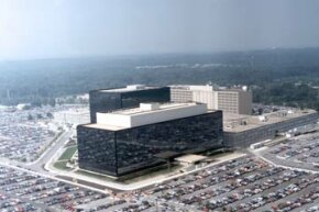 An aerial view of the NSA headquarters in Maryland. The agency prefers to keep a very low profile. See some hacking and computer pictures.