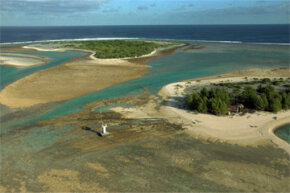 This deserted atoll 750 miles (1,207 kilometers) southeast of Tahiti was the site of some French underground nuclear tests in the 1990s.
