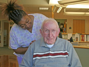 Males are in the minority at most nursing homes.