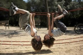 A backyard obstacle course doesn't have to be complicated or expensive to be fun and provide exercise for kids. See pictures of classic toys and games.