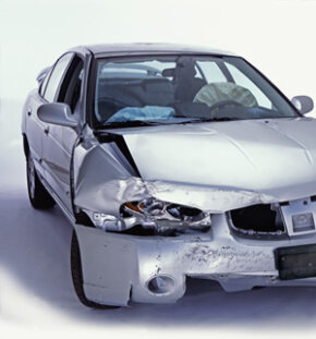 Dual stage airbags like these can deploy at different speeds, depending of the severity of the crash.