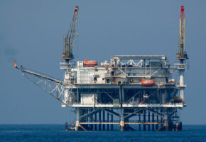 Offshore rigs like this one are the source of many heated discussions. See more pictures of oil fields and drilling.