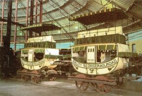 Richard Imlay built the first real passenger cars in North America in 1830, but his design did not last long. These were originally hauled by horses at a comfortable 6 to 8 mph.