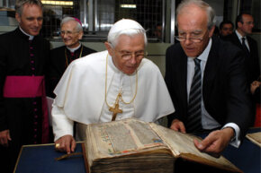 This 15th century Gutenberg Bible is pretty old -- but not nearly old enough to hold the record as the oldest book in the world.