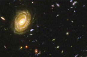 The Hubble Space Telescope was able to peer 13 billion light-years away to find seven galaxies, some born just around 400 million years after the universe's inception.