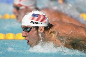 The hero of the 2004 Olympics, Michael Phelps, won a total of eight swimming medals during the games.