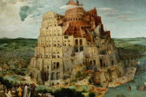 "A 16th-century painting of the Tower of Babel by Pieter Bruegel the Elder. This is where the word ""babble"" comes from."