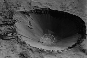 In 1962, a 100-kiloton thermonuclear detonation at the Atomic Energy Commission's Nevada test site created the Sedan crater, an enormous hole more than three football fields wide and one deep.