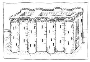 Each team draws a picture of their Bastille.