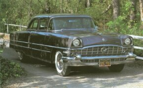 Packard gave the Patrician and other senior models new grillework and other changes for 1956.