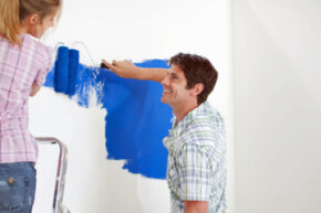 Once you pick out the wall, the color and the finish, you're ready to start painting.