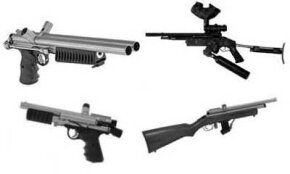 Modern paintball guns come in all shapes and sizes, in both rifle and pistol designs.