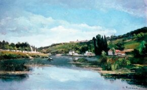Camille Pissarro's Chennevières on the Banks of the Marne at the National