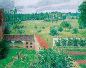 View from My Window, Eragny by Camille Pissarro (oil on at the Ashmolean