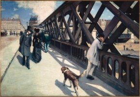 Le Pont de l'Europe by Gustave Caillebotte is an oil on canvas (49-1/8 x 71-1/8 inches), which is on display at Musée du Petit Palais, Geneva.