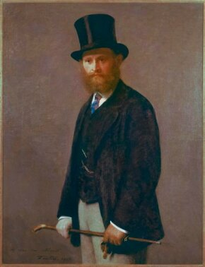 Henri Fantin-Latour's Portrait of Edouard Manet is an oil on canvas (46-1/4 x 35-1/2 inches) that belongs to The Art Institute of Chicago.