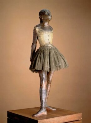 Little Dancer of Fourteen Years by Hilaire-Germain- Edgar Degas is a bronze, gauze, and satin sculpture (38-7/16 inches high) on display at The Saint Louis Art Museum.