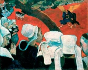 Vision after the Sermon by Paul Gauguin (oil on canvas, Gallery of