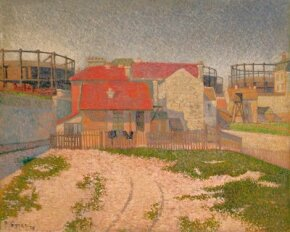 The Gas Tanks at Clichy by Paul Signac (oil on canvas, 25-5/8x National Gallery of Victoria