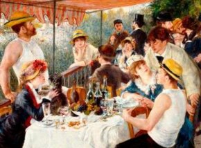 Pierre-Auguste Renoir's The Luncheon of the                              Boating Party (oil on canvas, 51x68 inches)                                            is part of the Phillips Collections in Washington, D.C.