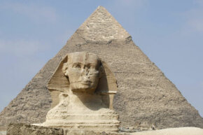 Egyptian Pyramid Image Gallery A pyramid and the Sphinx. See more pictures of Egyptian pyramids.