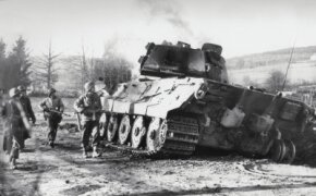 This Panzerkampfwagen VI Tiger II was knocked out of action on January 2, 1945, just west of the Belgian town of La Gleize.