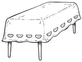 Special Tablecloths Paper Art Craft