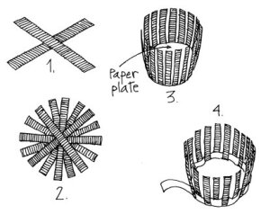 Follow these steps to create the African Tutsi Paper Basket.