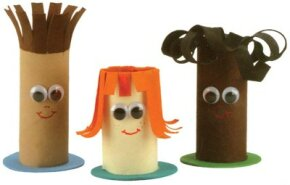 Tube Friends are some of the paper dolls you will learn to make on the following pages.